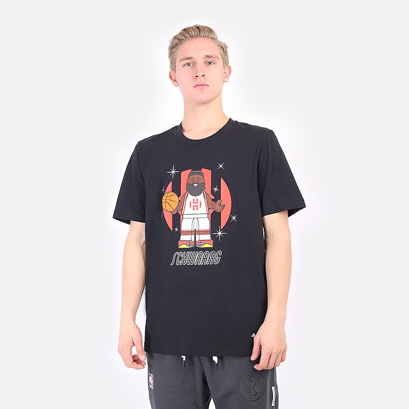 мужская черная футболка adidas Adidas X LEGO TEE JAMES HARDEN GU2714 - цена, описание, фото 1
