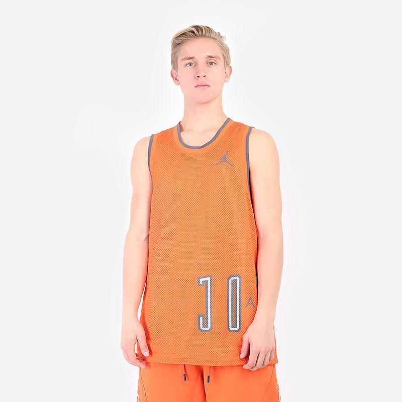 мужская оранжевая футболка Jordan DNA Hbr Jersey DA7234-803 - цена, описание, фото 1