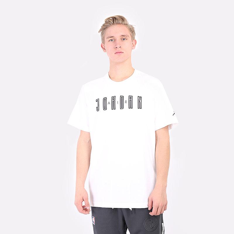 мужская белая футболка Jordan  DNA Hbr Crew DA9908-100 - цена, описание, фото 1