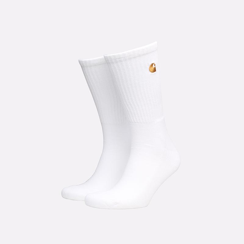 мужские белые носки Carhartt WIP Chase Socks I029421-white/gold - цена, описание, фото 1
