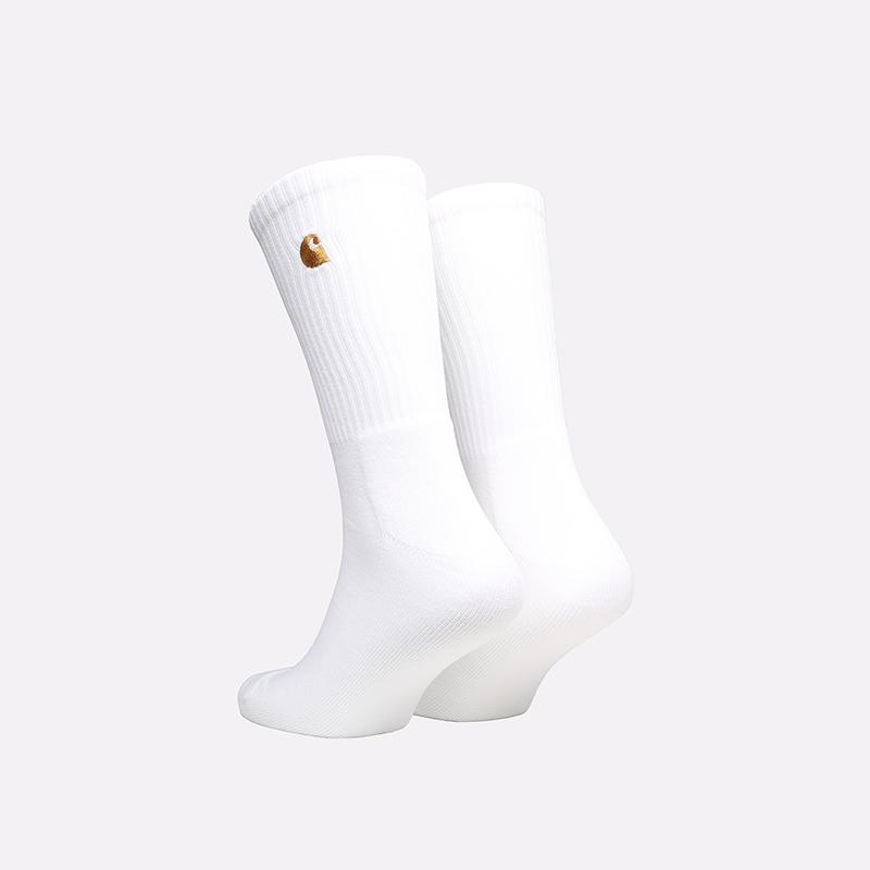 мужские белые носки Carhartt WIP Chase Socks I029421-white/gold - цена, описание, фото 2