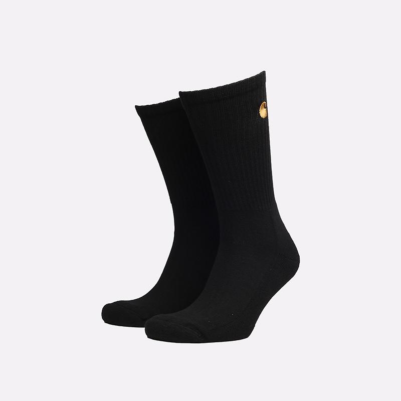 мужские черные носки Carhartt WIP Chase Socks I029421-black/gold - цена, описание, фото 1