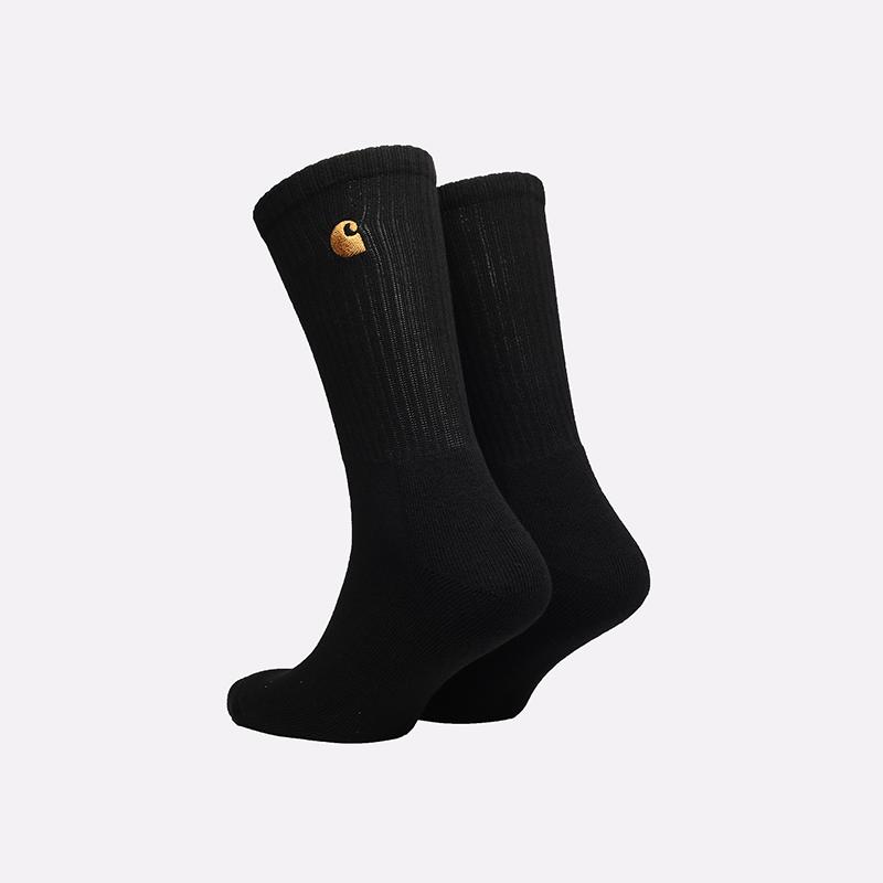 мужские черные носки Carhartt WIP Chase Socks I029421-black/gold - цена, описание, фото 2