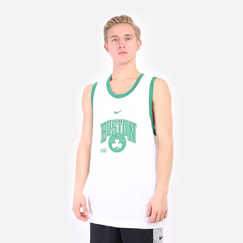 мужская белая майка Nike  NBA Tank Boston Celtics Courtside DB1268-100 - цена, описание, фото 1