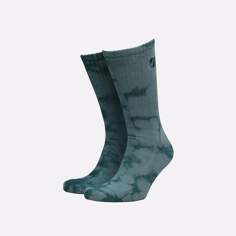 мужские зеленые носки Carhartt WIP Vista Socks I029568-frsr/eucaltypus - цена, описание, фото 1