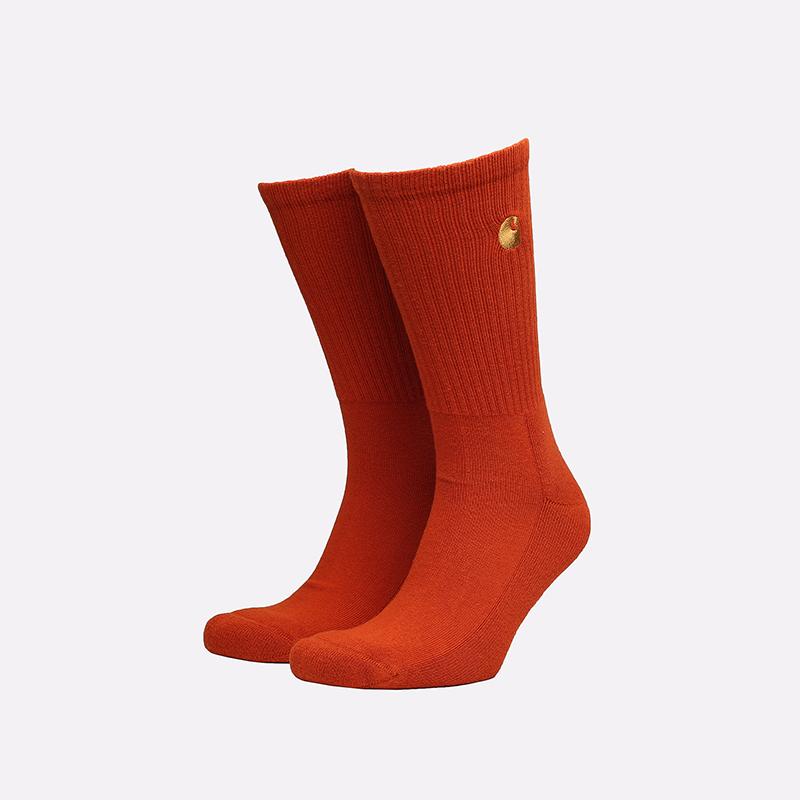 мужские оранжевые носки Carhartt WIP Chase Socks I029421-copperton/gold - цена, описание, фото 1
