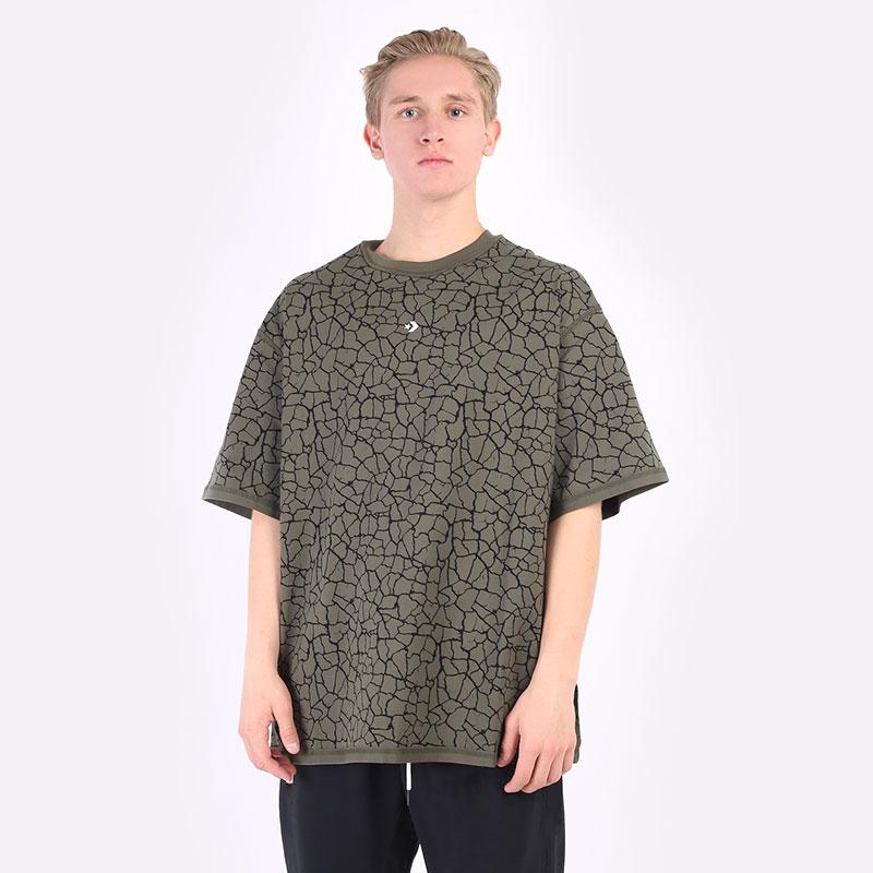 мужская зеленая футболка Converse T-Shirt 10022805360 - цена, описание, фото 1