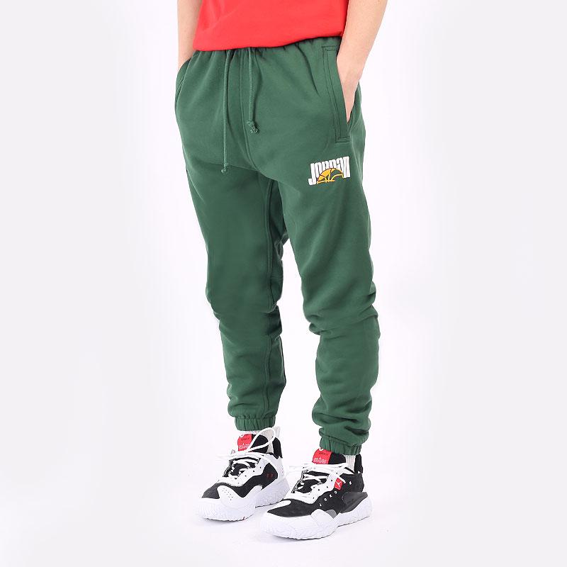 мужские зеленые брюки Jordan Sport DNA Pant DC9635-333 - цена, описание, фото 1