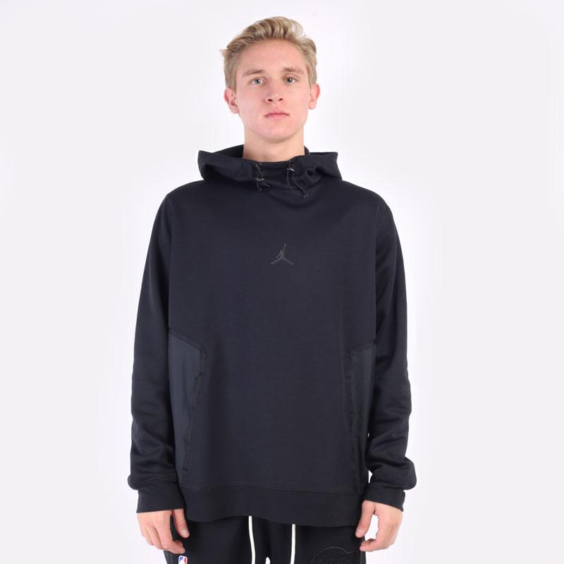 мужская черная толстовка Jordan Dri-FIT Air Statement Fleece Pullover Hoodie DA9849-010 - цена, описание, фото 5
