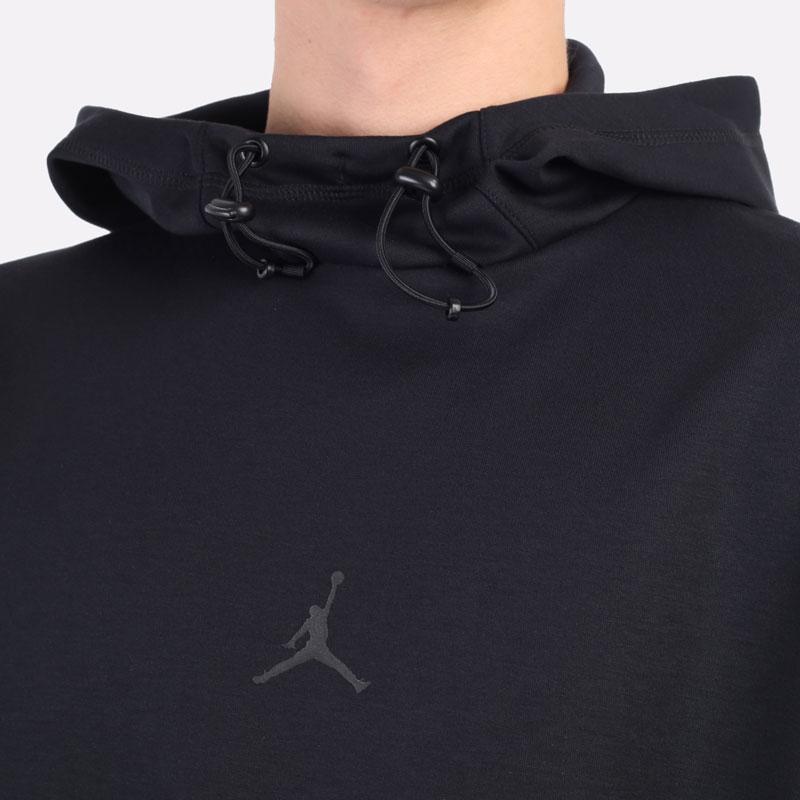 мужская черная толстовка Jordan Dri-FIT Air Statement Fleece Pullover Hoodie DA9849-010 - цена, описание, фото 2