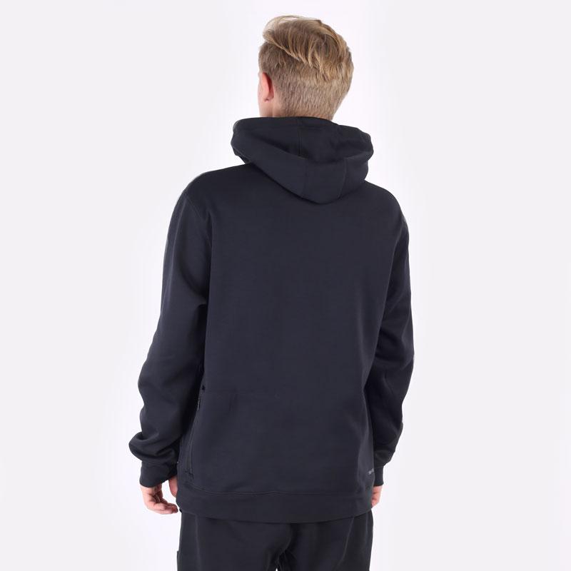 мужская черная толстовка Jordan Dri-FIT Air Statement Fleece Pullover Hoodie DA9849-010 - цена, описание, фото 3