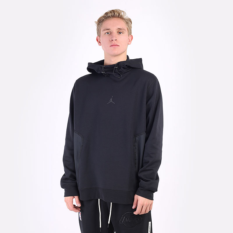 мужская черная толстовка Jordan Dri-FIT Air Statement Fleece Pullover Hoodie DA9849-010 - цена, описание, фото 1
