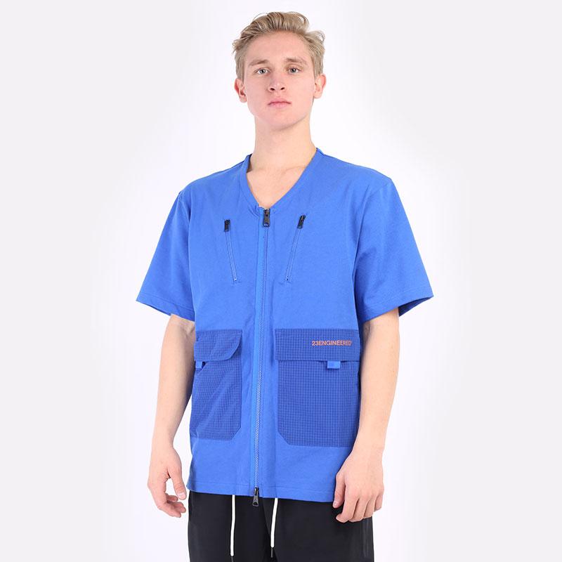 мужская синяя футболка Jordan 23 Engineered Top DH1597-480 - цена, описание, фото 1