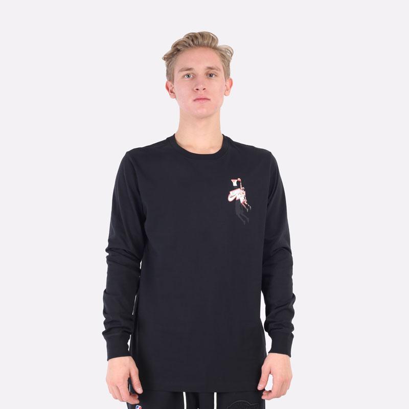 лонгслив Jordan Jumpman Long-Sleeve T-Shirt DC9775-010 - цена, описание, фото 3