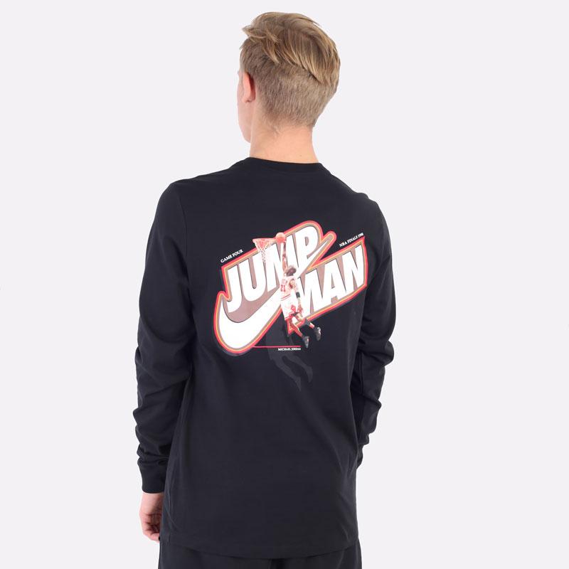 лонгслив Jordan Jumpman Long-Sleeve T-Shirt DC9775-010 - цена, описание, фото 5