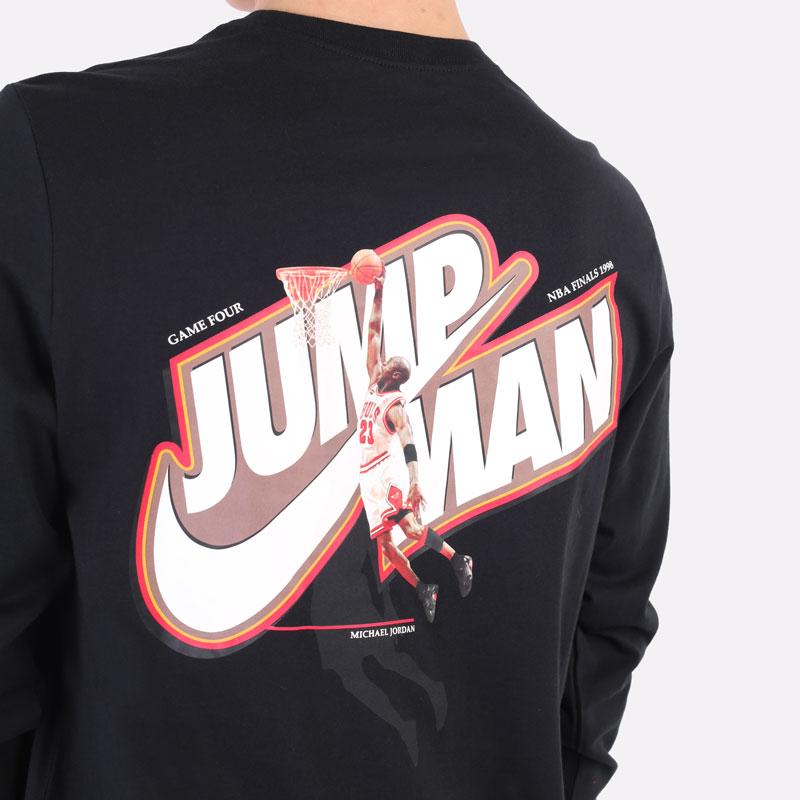 лонгслив Jordan Jumpman Long-Sleeve T-Shirt DC9775-010 - цена, описание, фото 2