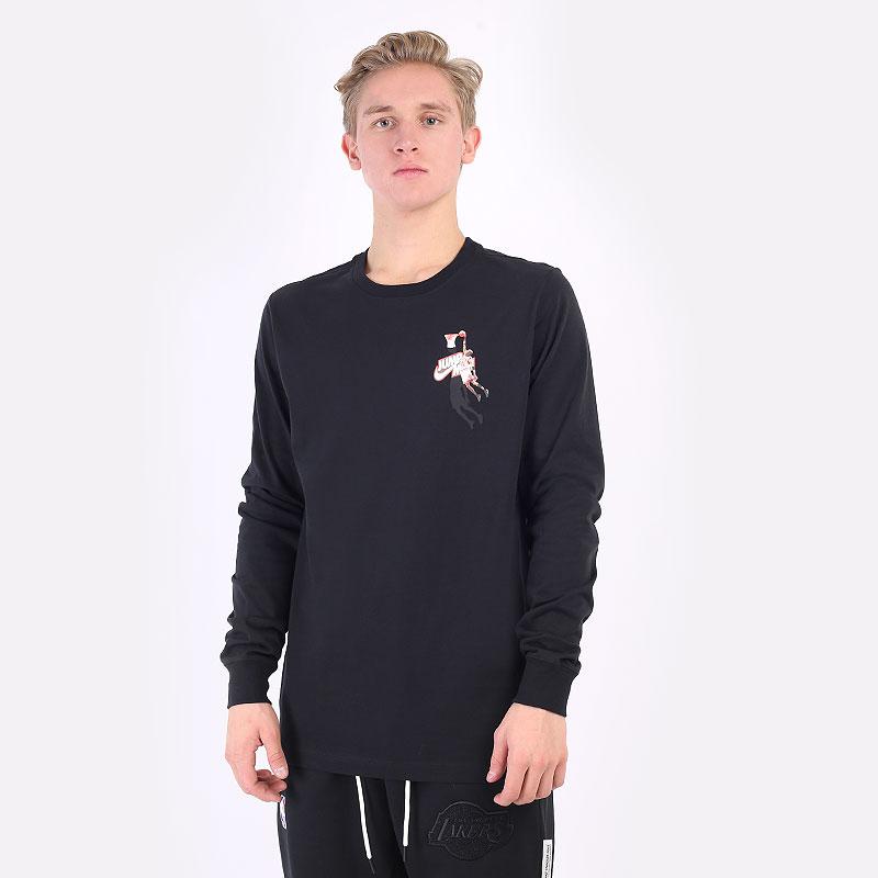лонгслив Jordan Jumpman Long-Sleeve T-Shirt DC9775-010 - цена, описание, фото 1