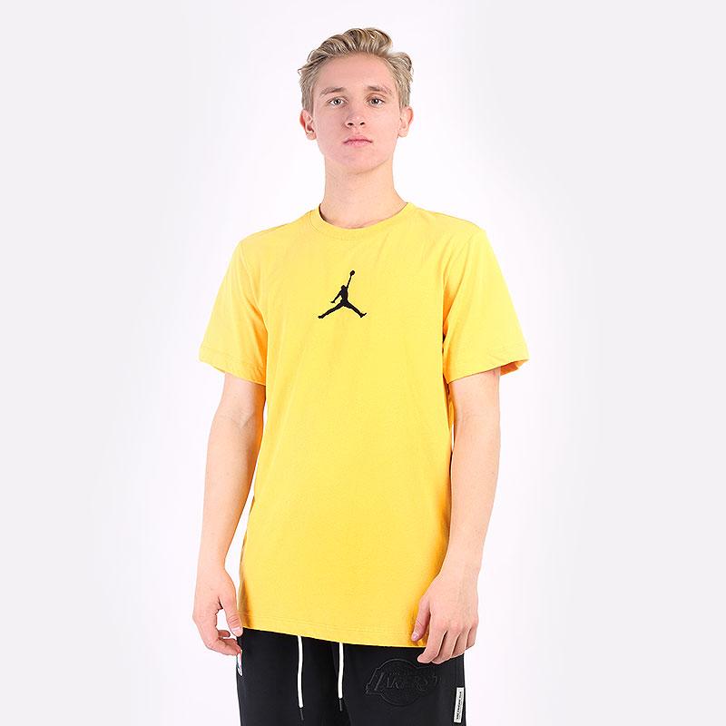 мужская желтая футболка Jordan Jumpman Short-Sleeve T-Shirt CW5190-781 - цена, описание, фото 1