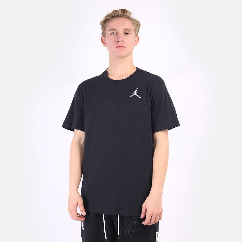 мужская черная футболка Jordan Jumpman Short-Sleeve T-Shirt DC7485-010 - цена, описание, фото 1