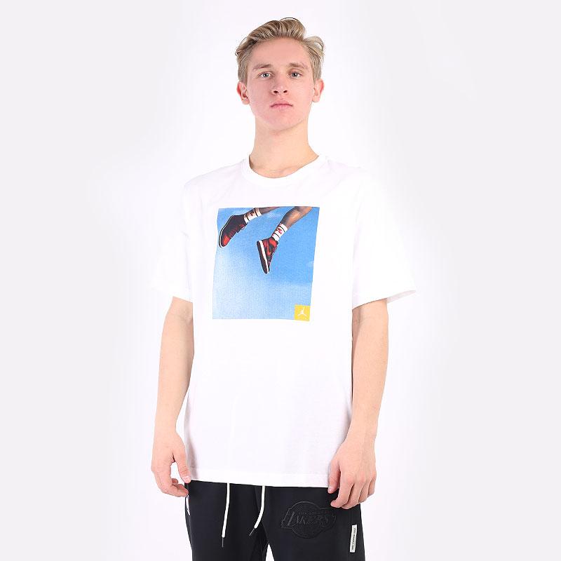 мужская белая футболка Jordan Jumpman Photo T-Shirt DA9894-100 - цена, описание, фото 1