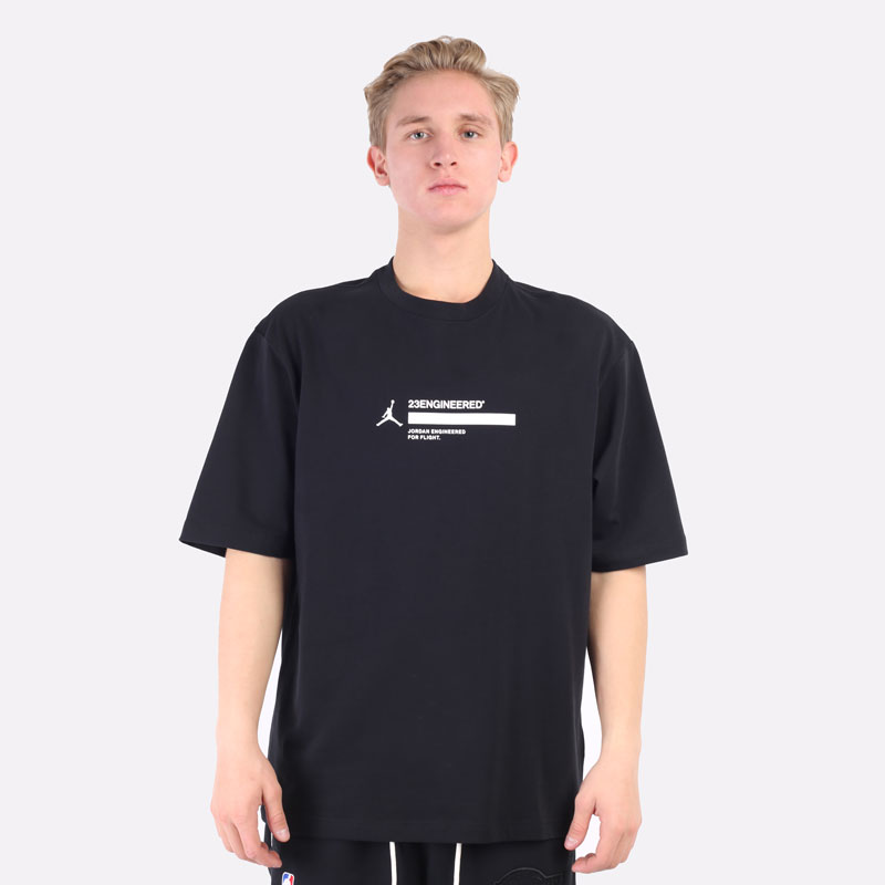 мужская черная футболка Jordan 23 Engineered Short-Sleeve T-Shirt DC9769-010 - цена, описание, фото 3