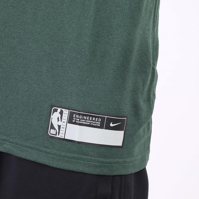 мужская зеленая футболка Nike NBA Bucks Practice Tee DA5928-323 - цена, описание, фото 2