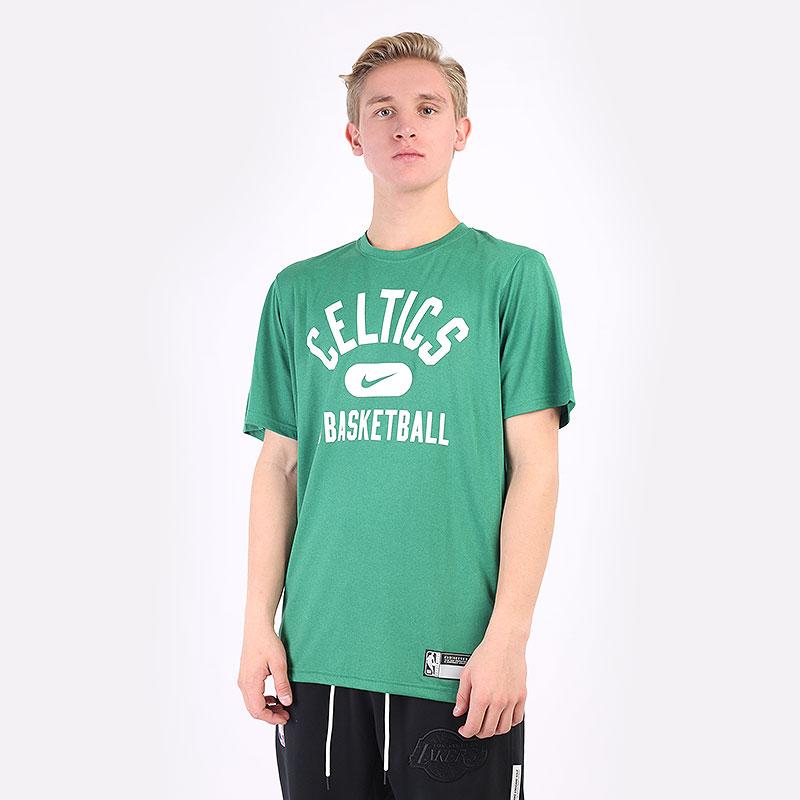 мужская зеленая футболка Nike Boston Celtics Dri-FIT NBA T-Shirt DA5914-312 - цена, описание, фото 1