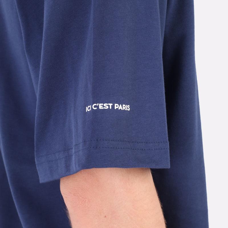 мужская синяя футболка Jordan Paris Saint-Germain T-Shirt DM4138-410 - цена, описание, фото 2