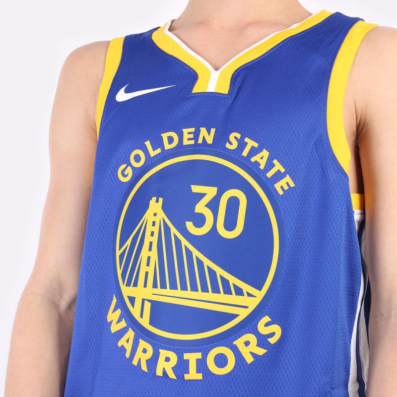 мужская синяя майка Nike Stephen Curry Warriors Icon Edition 2020 NBA CW3665-401 - цена, описание, фото 2