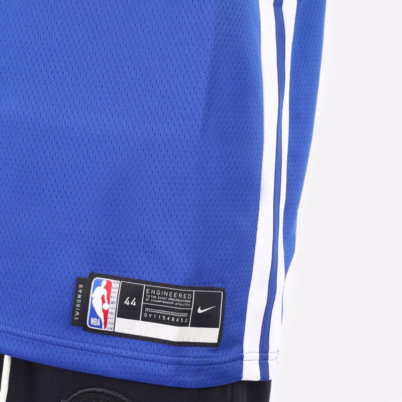 мужская синяя майка Nike Stephen Curry Warriors Icon Edition 2020 NBA CW3665-401 - цена, описание, фото 6
