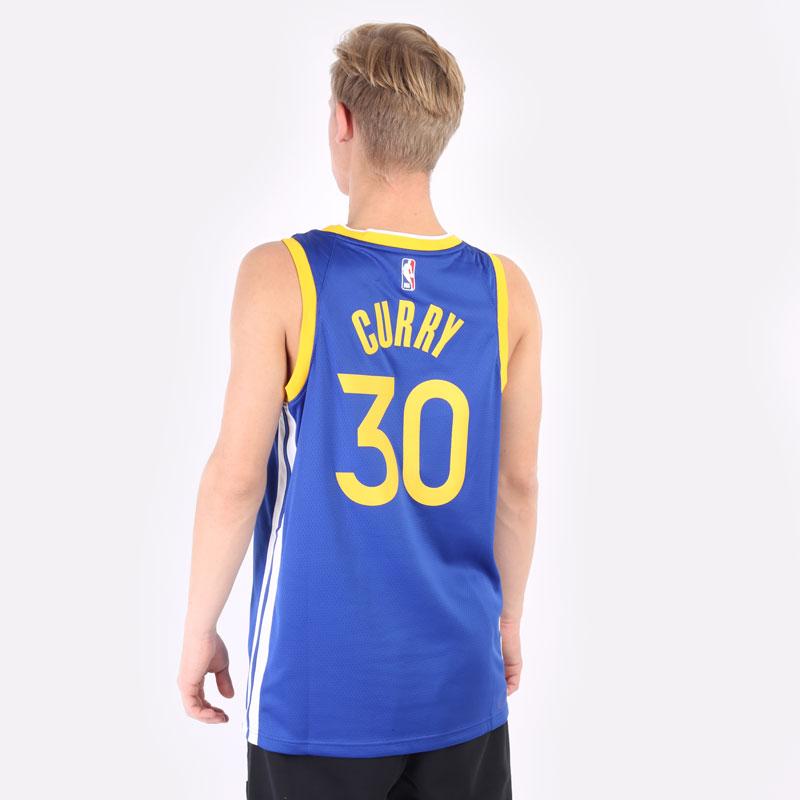мужская синяя майка Nike Stephen Curry Warriors Icon Edition 2020 NBA CW3665-401 - цена, описание, фото 3