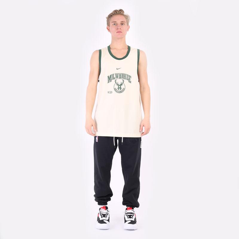 мужская бежевая майка Nike Milwaukee Bucks Courtside DNA NBA Tank DB1278-280 - цена, описание, фото 6