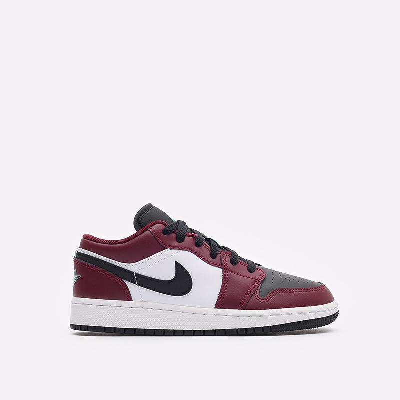 женские бордовые кроссовки Jordan 1 Low SE (GS) DM0589-635 - цена, описание, фото 1