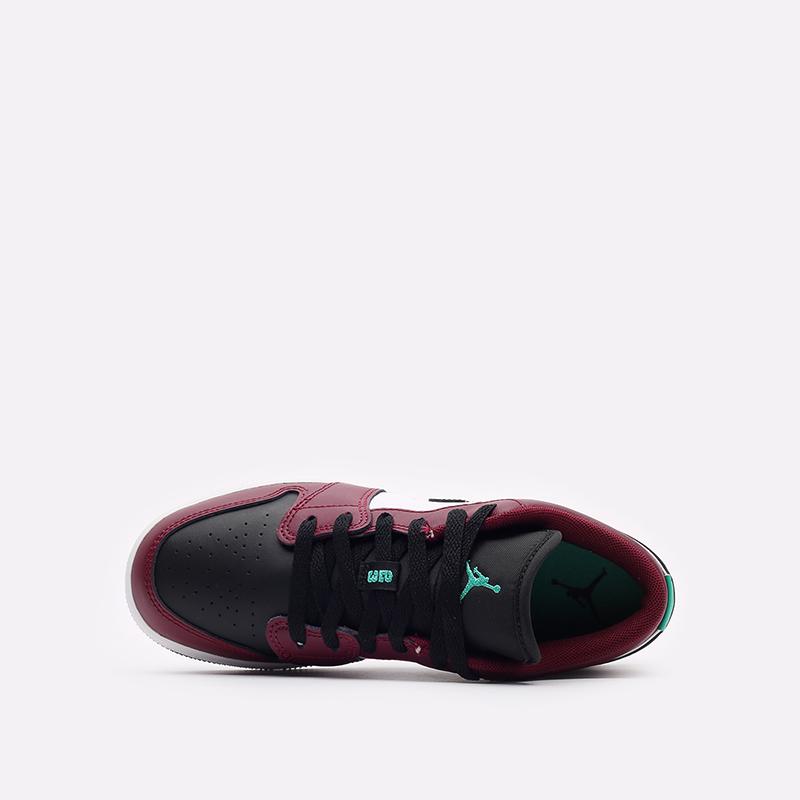 женские бордовые кроссовки Jordan 1 Low SE (GS) DM0589-635 - цена, описание, фото 6