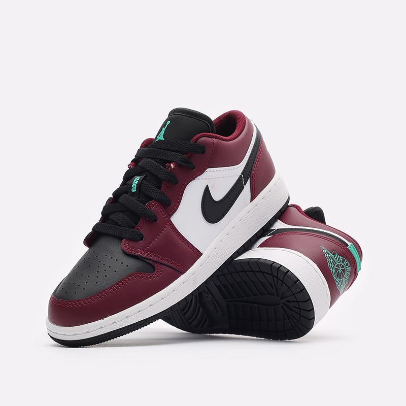 женские бордовые кроссовки Jordan 1 Low SE (GS) DM0589-635 - цена, описание, фото 2