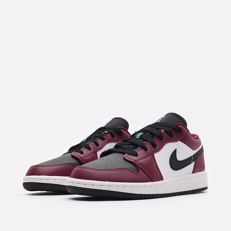 женские бордовые кроссовки Jordan 1 Low SE (GS) DM0589-635 - цена, описание, фото 4