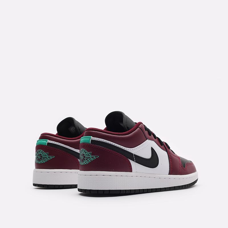 женские бордовые кроссовки Jordan 1 Low SE (GS) DM0589-635 - цена, описание, фото 3