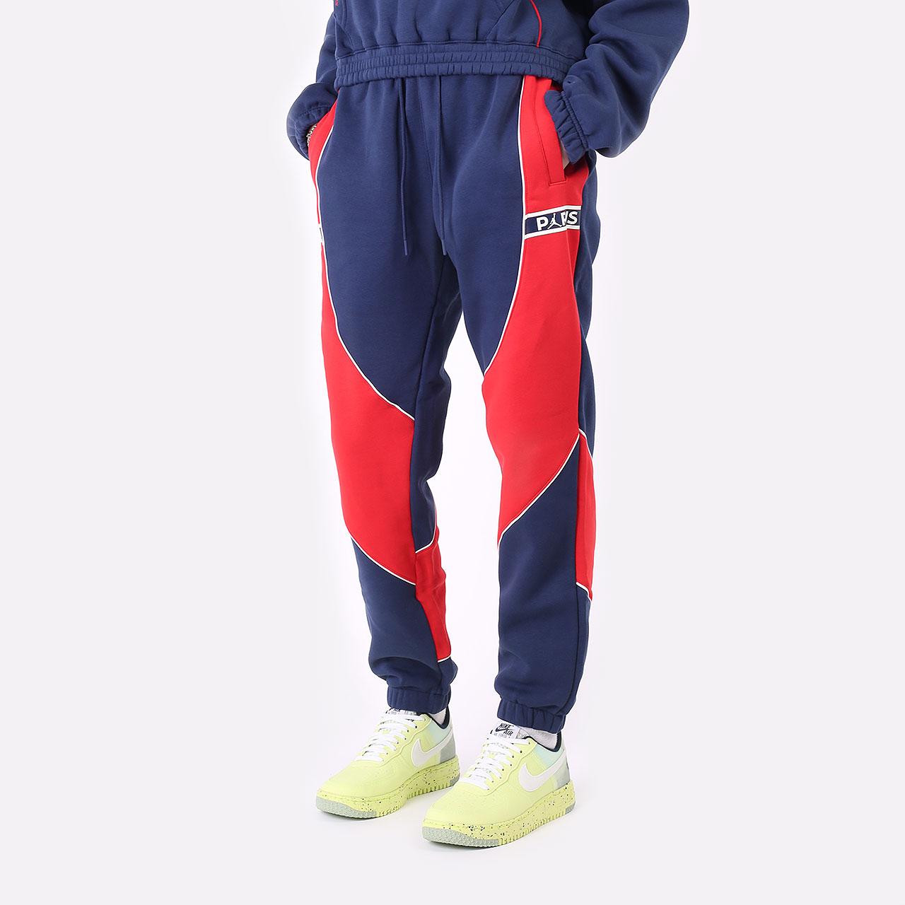 женские синие брюки Jordan Paris Saint-Germain DC0455-410 - цена, описание, фото 1