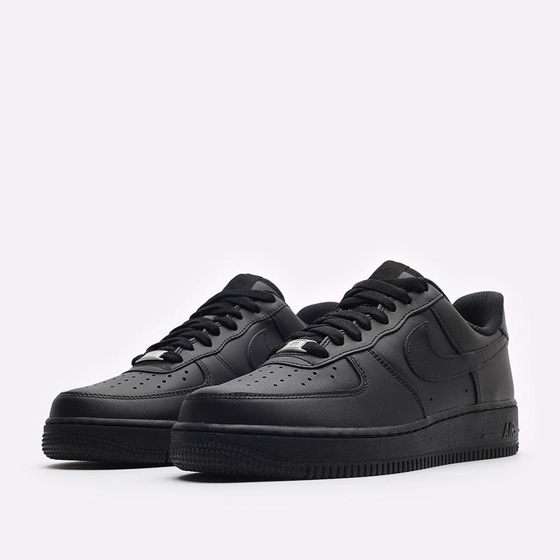 мужские черные кроссовки Nike Air Force 1 '07 CW2288-001 - цена, описание, фото 4