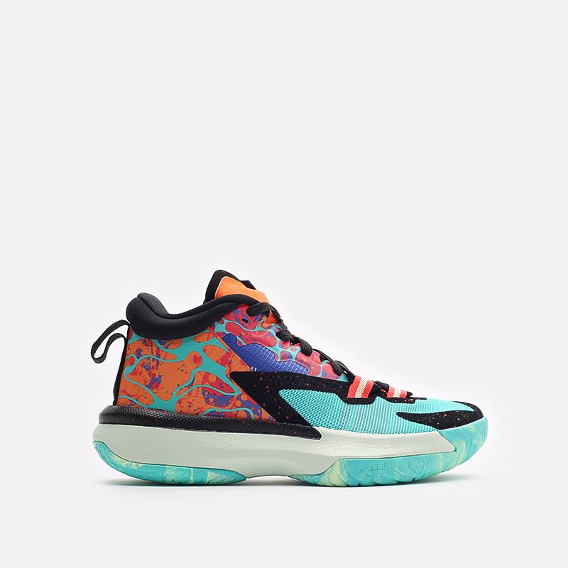 женские разноцветные баскетбольные кроссовки Jordan Zion 1 (GS) DA3131-800 - цена, описание, фото 1