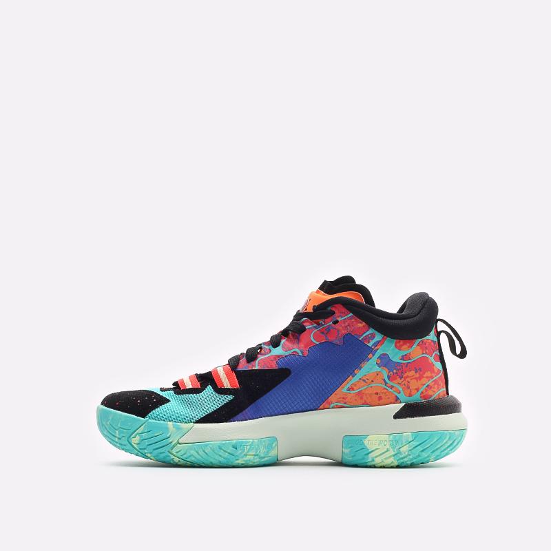 женские разноцветные баскетбольные кроссовки Jordan Zion 1 (GS) DA3131-800 - цена, описание, фото 2