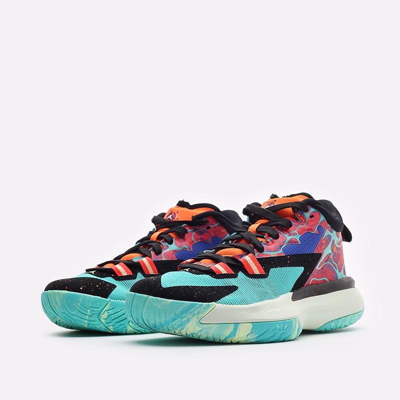 женские разноцветные баскетбольные кроссовки Jordan Zion 1 (GS) DA3131-800 - цена, описание, фото 4