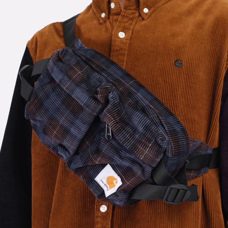 фиолетовая сумка Carhartt WIP Flint Hip Bag I029506-tobacco - цена, описание, фото 6