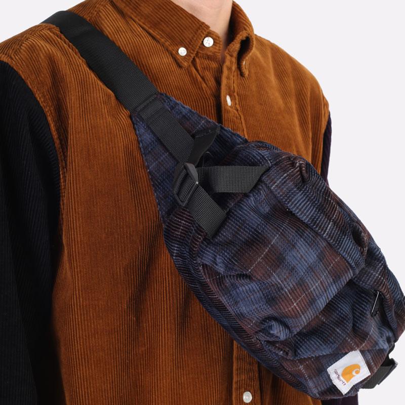 фиолетовая сумка Carhartt WIP Flint Hip Bag I029506-tobacco - цена, описание, фото 3