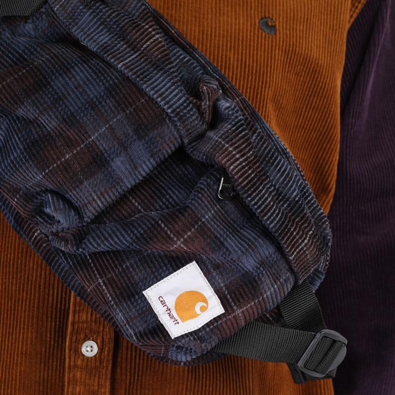 фиолетовая сумка Carhartt WIP Flint Hip Bag I029506-tobacco - цена, описание, фото 4
