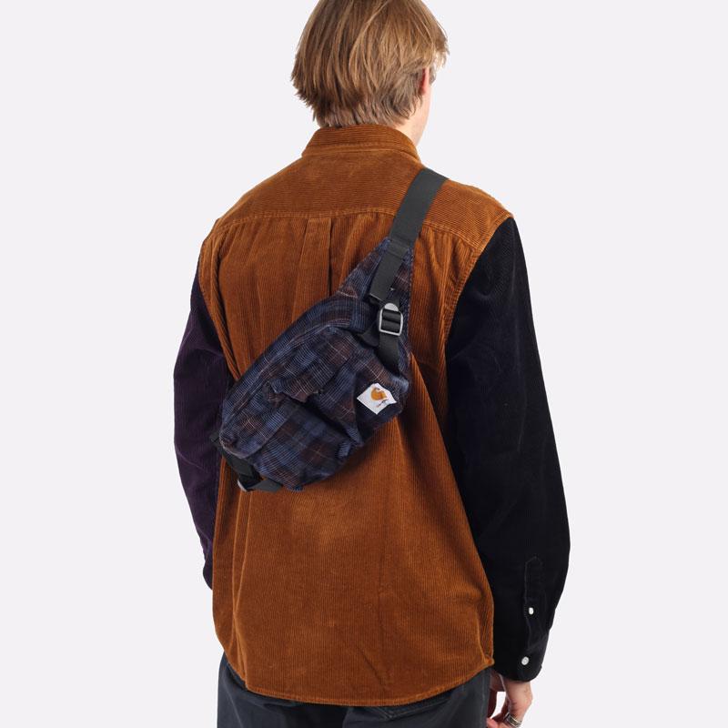 фиолетовая сумка Carhartt WIP Flint Hip Bag I029506-tobacco - цена, описание, фото 5