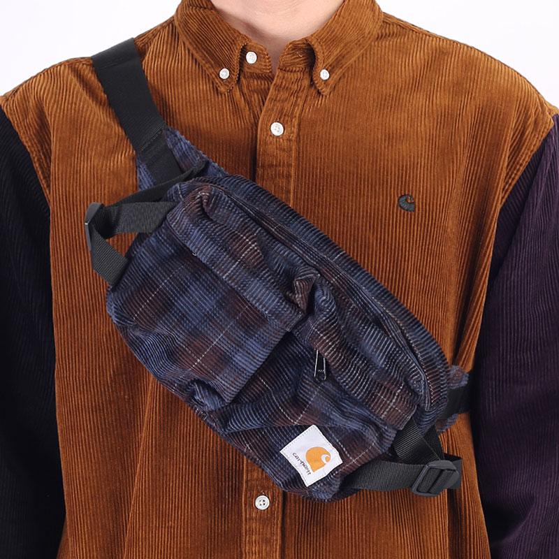 фиолетовая сумка Carhartt WIP Flint Hip Bag I029506-tobacco - цена, описание, фото 1