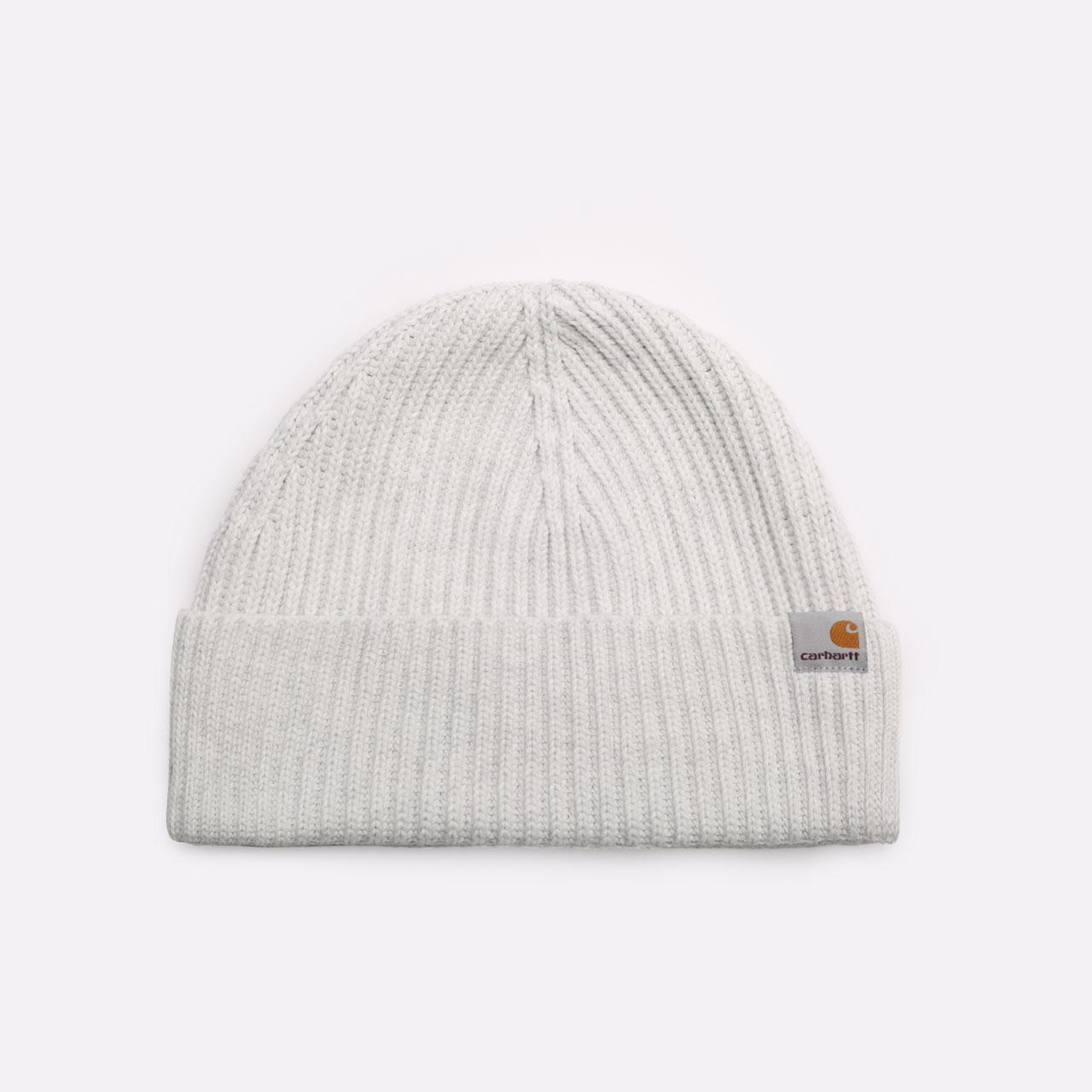 серая шапка Carhartt WIP Burbank Beanie I029491-ash heather - цена, описание, фото 1