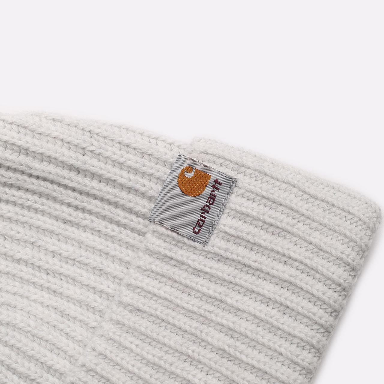 серая шапка Carhartt WIP Burbank Beanie I029491-ash heather - цена, описание, фото 2