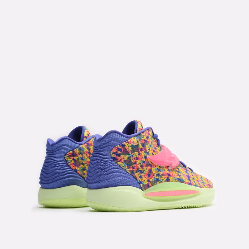 мужские разноцветные баскетбольные кроссовки Nike KD14 DO6903-400 - цена, описание, фото 3
